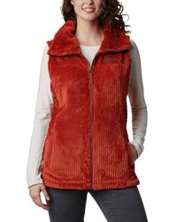 Columbia Fire Side Sherpa Vest - Red