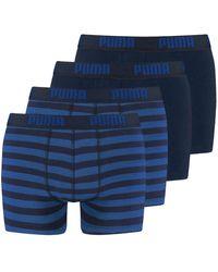PUMA - Striped Boxershorts Retroshorts im 2x2er Pack - Lyst