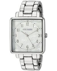 Steve Madden - Quartz And Alloy Casual Watch, Color Silver-toned (model: Smw020) - Lyst
