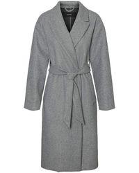 Vero Moda VMFORTUNE Long Jacket PI Cappotto - Grigio