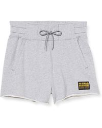 G-Star RAW High Waist Pantalones Cortos - Blanco