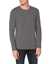 Tommy Hilfiger Stretch Slim Fit Long Sleeve Tee T-shirt - Grey