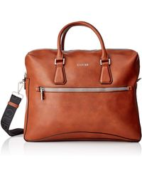 Guess Scala Briefcase Bags - Brown