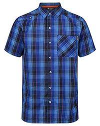 Regatta Kalambo IV lime punch kurzarm Freizeithemd Wanderhemd für Männer