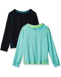 Amazon Essentials – Camiseta deportiva de manga larga para niña - Azul