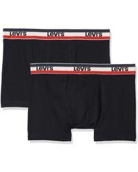 Levi's Levis Levis 200sf Sprtswr Logo Colour Boxer Brief 2p Boxer Shorts - Black