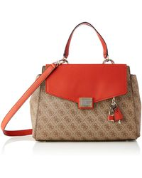 Guess Valy Large Girlfriend Satchel - Red