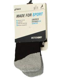 Asics Made For Sport Distance Run Quarter Motion Dry Socks 152006 - Black