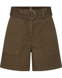 Tommy Hilfiger Cotton Twill Shorts Slim Jeans - Grün
