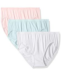 48b05e910355 Ellen Tracy - 3 Pack Hi-cut Logo Micofiber Panties - Lyst