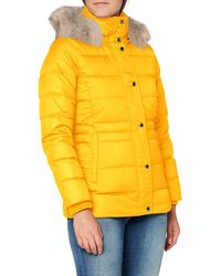 Tommy Hilfiger Th Ess Tyra Down Jkt With Fur Jacke - Rot