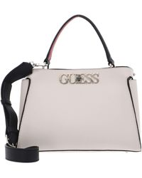 Guess , Uptown Chic Turnlock Satchel , Sml, One Size - Pink