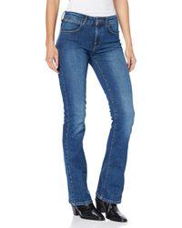 Wrangler Bootcut Jeans - Blau