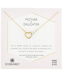 Dogeared - S Gold Mom & Daughter Chain Necklace, 16 - Lyst