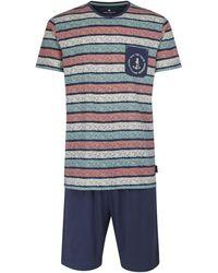 Tom Tailor Nightwear Kurz-Pyjama - Blau