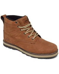 Quiksilver Leather Lace-up Winter Boots - - Eu 40 - Brown