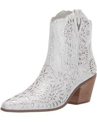 Betsey Johnson Mozart Western Boot - White