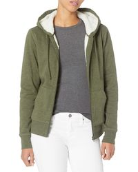 Amazon Essentials Sherpa Lined Full-zip Hoodie Sweatshirt - Green