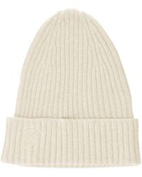 The Drop Julie Ribbed Beanie Hat - White