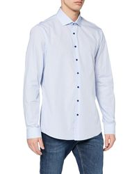 Calvin Klein Rome Fitted Fec Camisa - Azul