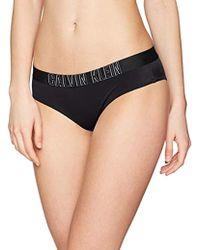 Calvin Klein Damen Bikinihose Hipster-HR - Schwarz