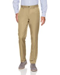 Amazon Essentials Slim-Fit Flat-Front Dress Pants - Neutro