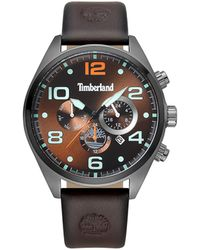 Timberland S Multi Dial Quartz Watch With Leather Strap Tbl.15477jsu/12 - Metallic