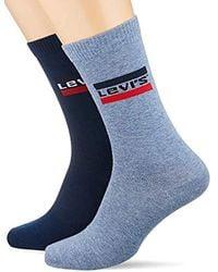 Levi's - 168sf Regular Cut Sprtswr Logo 2p Chaussettes, (Lot de 2) Homme - Lyst