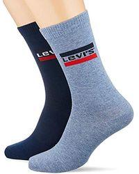 Levi's - 168sf Regular Cut Sprtswr Logo 2p Chaussettes, (Lot de 2) - Lyst