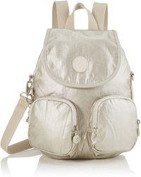 Kipling Firefly Up Backpack - Metallic