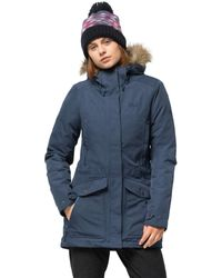 Jack Wolfskin Coastal Range Parka Waterproof Insulated Jacket - Blue