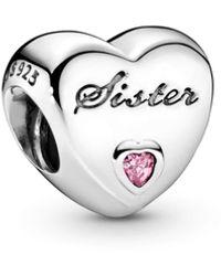 PANDORA Charm Sister-Herz 791946PCZ - Mehrfarbig