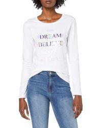 Guess Ls CN Dream Tee T-Shirt - Blanc