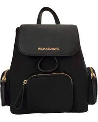 Michael Kors Abbey Medium Cargo Nylon Drawstring Backpack Bag Black - Schwarz