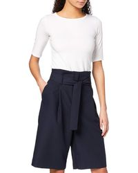 FIND Amazon Brand - Women's Culottes, Multicolour (navy), 14, Label:l - Blue