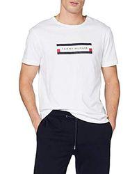 Tommy Hilfiger Corp Box Logo Tee T- T-Shirt de Sport - Blanc