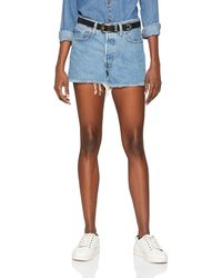 Levi's 501 High Rise Shorts - Blau