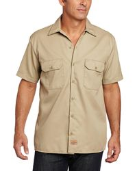 Dickies Short Sleeve Work Shirt - Natural