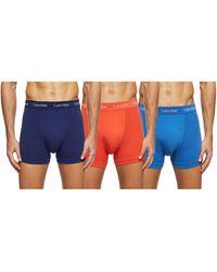 Calvin Klein Lot de 3 aille mi-haute boxers - Cotton - Multicolore