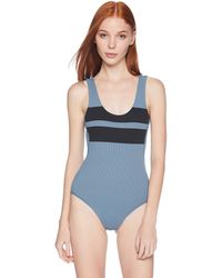 Hurley Quick Dry Block Party Hybrid Swimsuit Bodysuit - Blue
