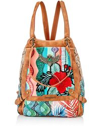 Desigual Fabric Backpack Big - Red