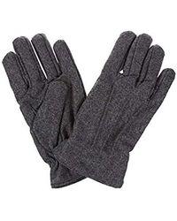 GANT Melton Gloves - Grey