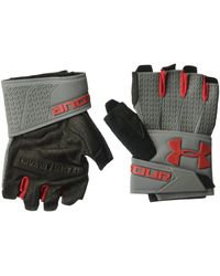 Under Armour Clutchfit Resistor Training Gloves,graphite/red - Black