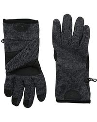 Timberland Ribbed-knit Wool-blend Glove With Touchscreen Technology - Gray