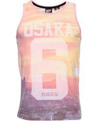 Superdry - Photographic Vest Camiseta sin gas - Lyst