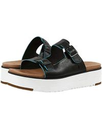 6e52ccbc674 UGG ® Laddie Leather Sandals in Blue - Lyst