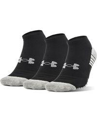 Under Armour Heatgear Tech No Show Socks - Black