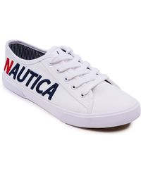 Nautica Lace-Up Fashion Sneaker Casual Shoes -Essence-White-6.5 - Blanc