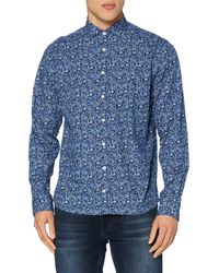 Hackett Navy Paisley Shirt - Blue