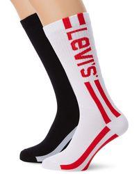Levi's Levis 168sf Vintage Cut Race Logo Sock 2p Chaussettes - Noir